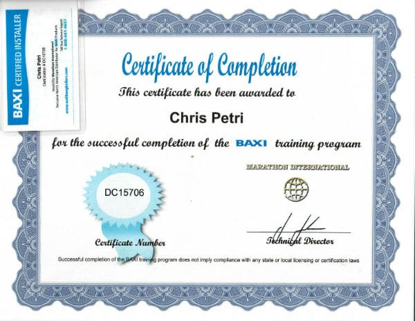 baxi-certification