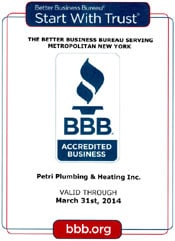 Best Brooklyn Plumber - BBB A+ Rating - Petri Plumbing and Heating, Inc