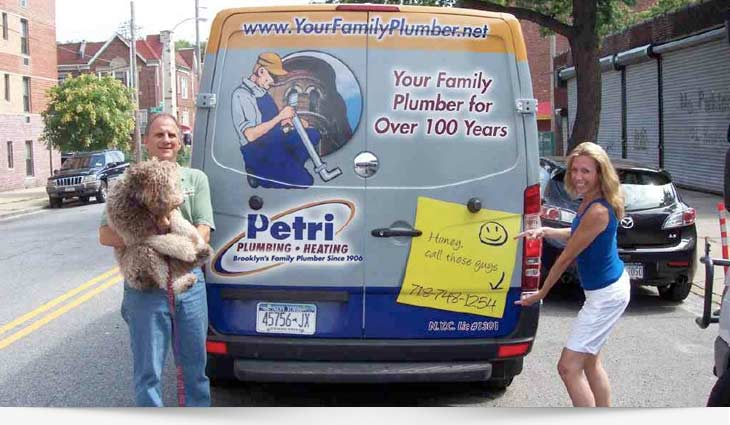 Brooklyn Plubmer - Petri Plumbing & Heating, Inc. - Mike & Jeanne