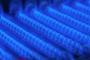 Natural gas flame shows importance of switching from heating oil