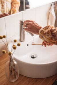 Low-flow faucets can help save money and the environment.