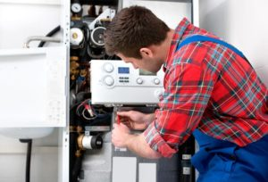 hvac technician performing heating service in central brooklyn ny